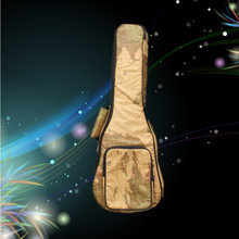 "New PU leather 21 23 24 26"" soprano concert tenor ukulele bags soft gig backpack small guitar case pattern map cover kids gift(China (Mainland))"