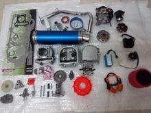 47mm 80cc Big Bore Performance Kit A9 Cam CDI Carburetor GY6 50cc 139QMB 1P39QMA blue high performance muffler