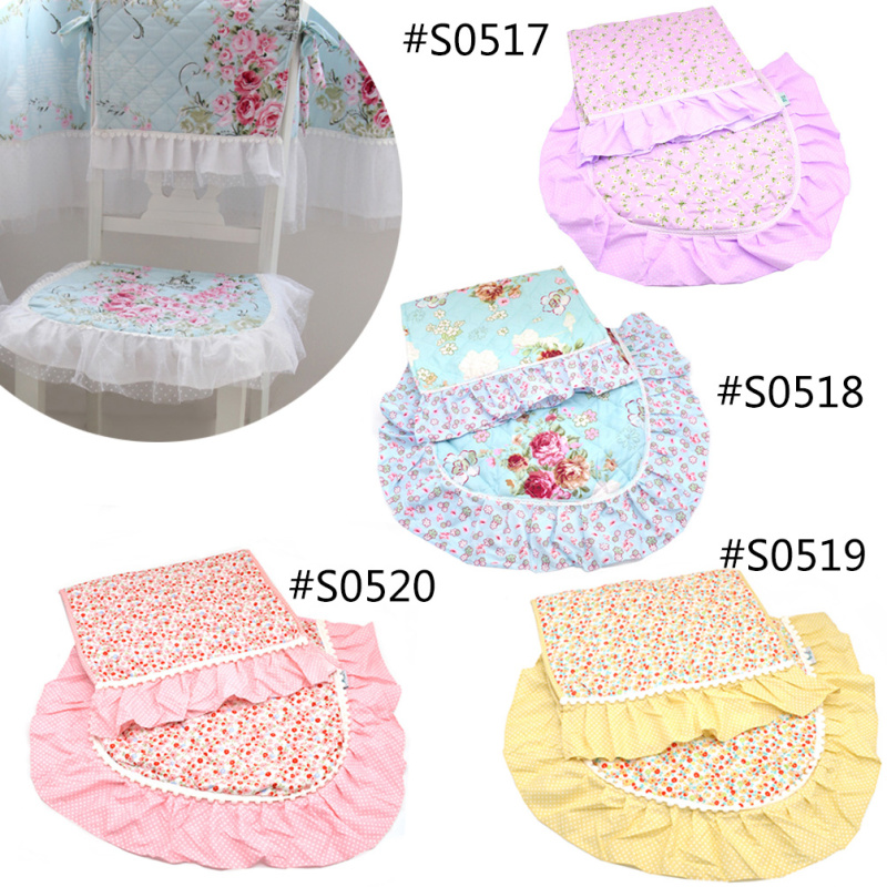 Floral Flower Embroidered Rectangle Lace Chair Cover Tablecloth Table Cover Country Style 1 Set(China (Mainland))
