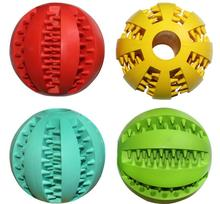 Dog Toy Rubber Balls Pet Toys Ball Chew Toys Tooth Cleaning Balls Food -7cm(China (Mainland))