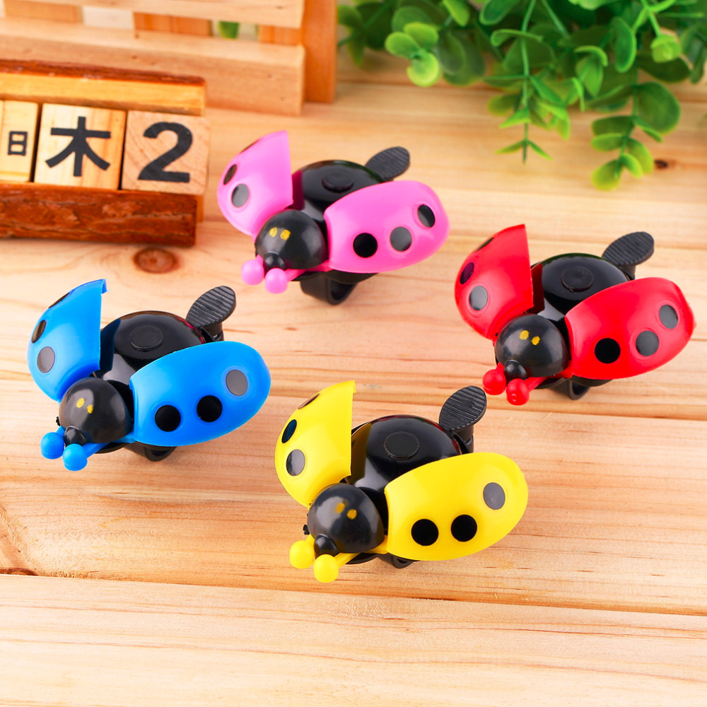 Lovely Kid Beetle Ladybug Ring Bell For Cycling Bicycle Bike Ride Horn Alarm free shipping(China (Mainland))