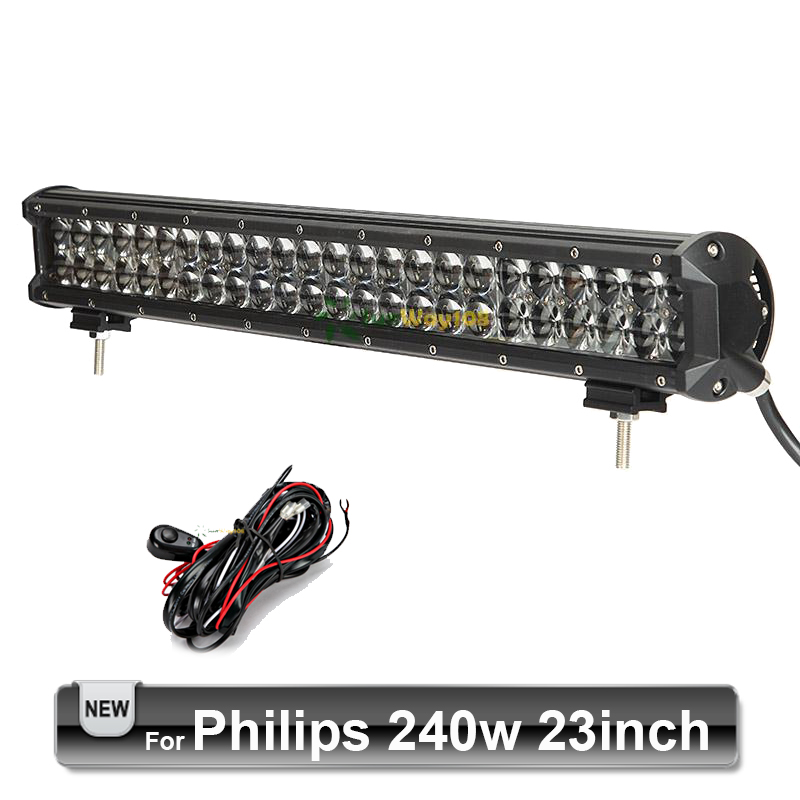 240W 23 inch LED Light Bar For Philips Offroad Driving Work Light LED Bar Front Bumper 4x4 Trailer SUV Golf Pickup Truck Camper(China (Mainland))