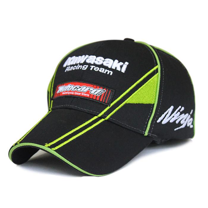 F1 Car racing Motocycle Racing MOTO GP 76 Kawasaki cap Embroidery sport Baseball Cap Hat F1 peaked cap(China (Mainland))