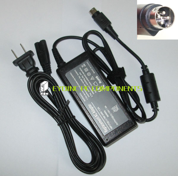 12V 5A 60W 4 Pin AC Power Adapter Charger for elo ET1525L 7SWA 1 ET1525L 8SWA