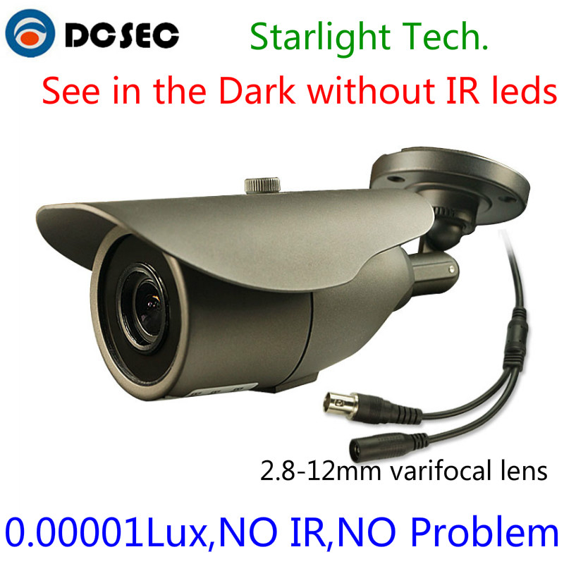1/3'' SONY Super HAD II CCD 700TVL Day/Night Starlight Video Camera Waterproof IR Bullet Surveillance Camera with 2.8-12mm lens(China (Mainland))