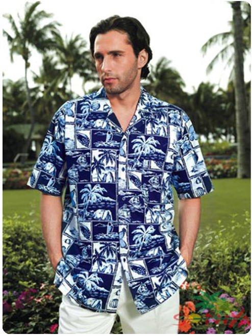 $15 off per $150 order Retail and Mix Order Cotton Aloha Shirt Short Sleeved Printed Hawaii Free Shipping(China (Mainland))