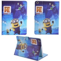 Free Shipping 13 models funny  Despicable Me 2 Minions leather Case cover skin for Apple ipad air 2 II for Ipad 6
