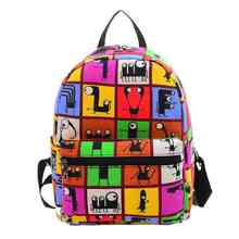 2016 Small Printed Backpack for Women Hot Sale Canvas School Bags Fashion Women's Bags Rucksack for Girl Student XB396(China (Mainland))