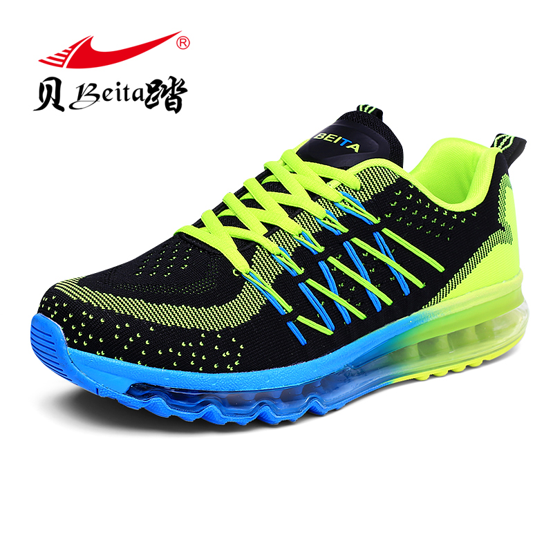 Brand BEITA The New 2016 Light Sports Shoes Man Trainers Sport Shoes Lncreased Mens Sport Sneakers Air Cushion Running Shoe(China (Mainland))