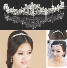 Hot-selling hair crown wedding jewelry bridal hair accessories free shipping(China (Mainland))