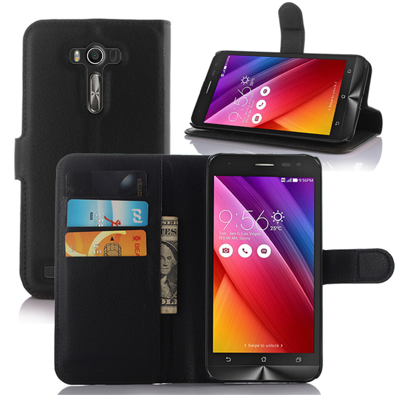 ASUS ZenFone 2 Laser ZE500KL ZE500KG Phone Case Luxury Coque Fundas Stand Wallet Leather Flip Cover Bags Skin protection  -  HUAERXINDIAN seunghang Store store