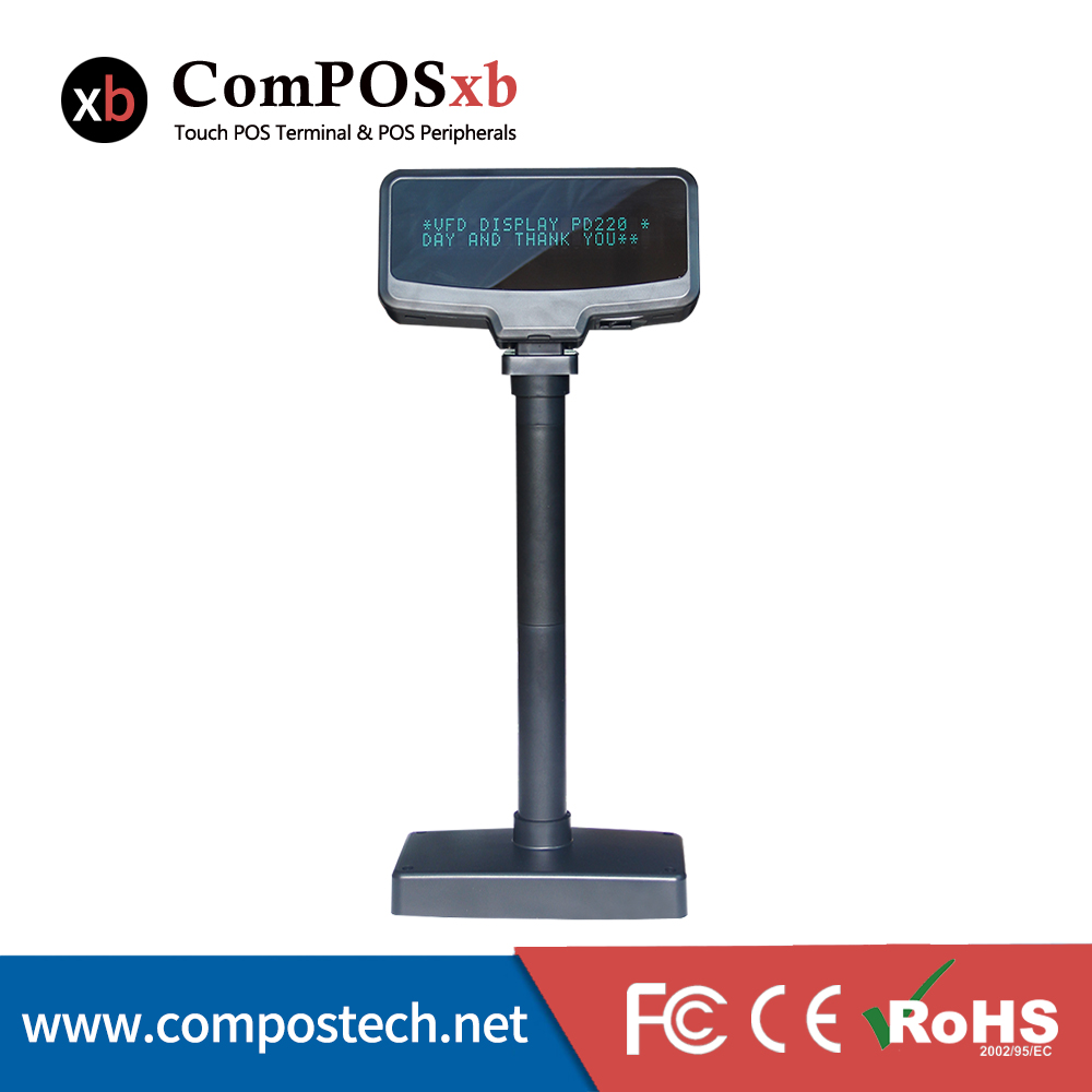 Stand Pole POS VFD Customer Display With USB Interface(China (Mainland))