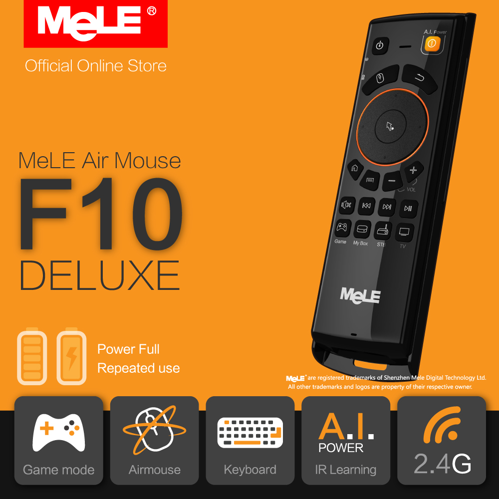 Fly Air Mouse Wireless QWERTY Keyboard Remote Control MeLE F10 Deluxe 2.4GHz Gyro IR Learning Functions for Android TV Box P