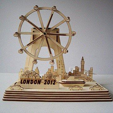 3D puzzle Solar park Solar DIY toy - London eye The London olympics souvenirs Free shipping