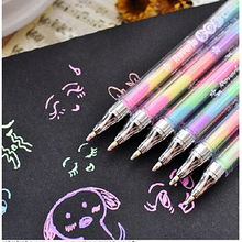 Toys for Children Cute Colorful Ink 6colors Highlighter Pen Marker Educational Learning Stationery Point Pen(China (Mainland))