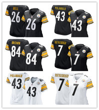 2016 Women Pittsburgh Steelers, #84 Antonio Brown #7 Ben Roethlisberger black #26 LeVeon Bell(China (Mainland))