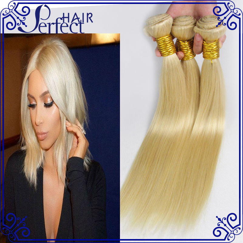 613 blonde virgin hair 3Pc Lot 100g/pc platinum blonde virgin hair Cheap Human Hair Weave Bundles Brazilian Virgin Hair