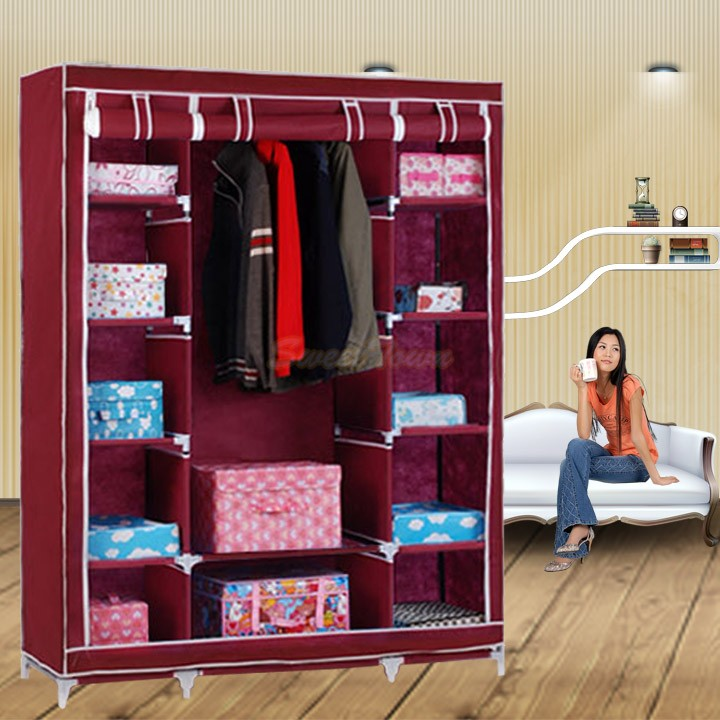 bedroom furniture clothe storage wardrobe simple portable clothe