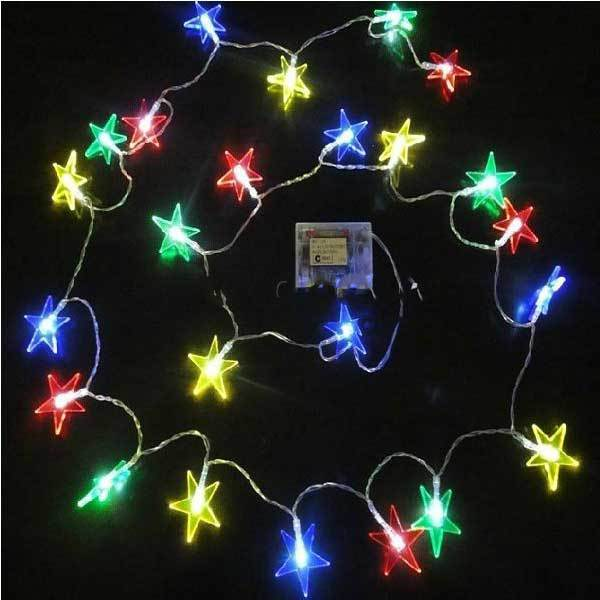 String Of Led Star Lights : Barmanner 3h Christmas LED Star Lighting Lantern String Lights