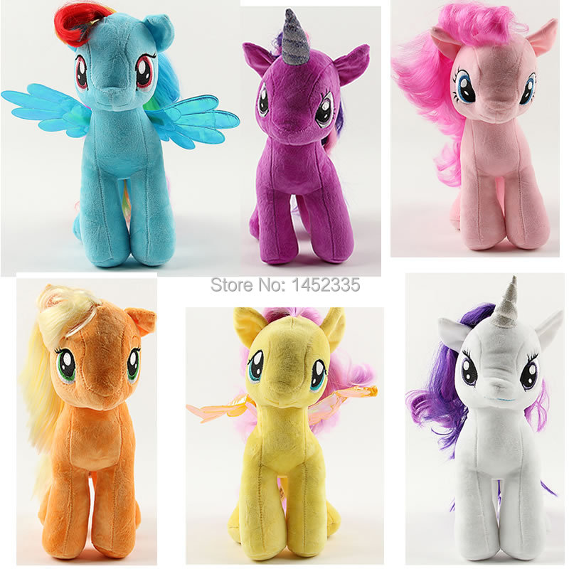 19CM Rainbow MLP little horse plush toys Cartoon Animals Baby Toy for Children Gifts Wedding Gifts toys Hot sales(China (Mainland))