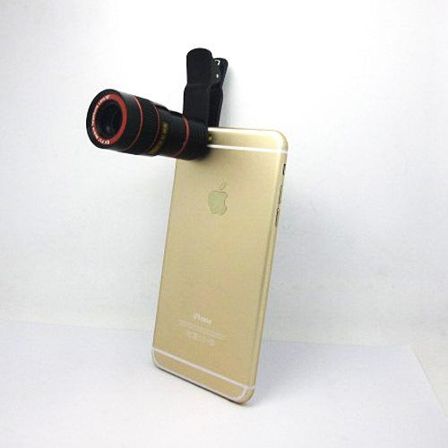 8x Zoom Optical Camera Telescope Phone Lens Telephoto Monocular For iPhone 6 iphone 6 plus Free Shipping