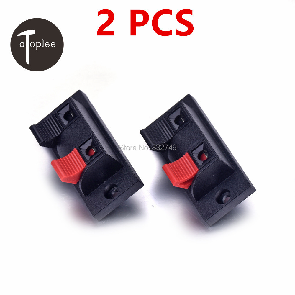 2 PCS Cable Terminals for Loudspeaker Box 2 Pins Splice Electronic Terminals Connectors Cable Terminals(China (Mainland))