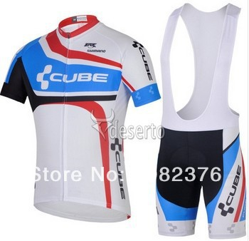 2014 NEW design men's outdoor sport CUBE Cycling clothing jersey Bicycle cycling wear bike cycling jerseys +bibs shorts(China (Mainland))