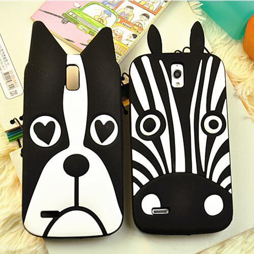 Funda Movil Huawei G610 Case Zebra Dog 3D Silicone Phone Cases Protective Soft Fundas Para el Huawei G610 G610s C8815 Back Cover(China (Mainland))
