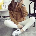 2015 new women s spring autumn winter thicken turtleneck pullover knitted sweaters women long slim sweater