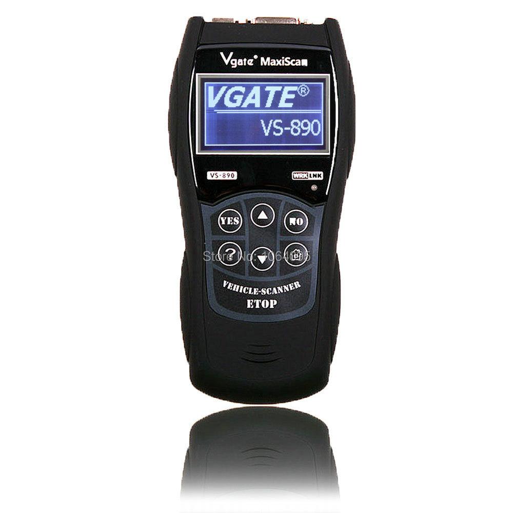 2015 VS890 OBD2 Code Reader Universal VGATE VS890 OBD2 Scanner Multi-language Car Diagnostic Tool Vgate MaxiScan VS890(China (Mainland))