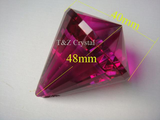 30pcs/lot, Free Shipping+100% AAA Quality Guaranteed 40mm Fuchsia colour K9 Crystal Diamond Balls, Crystal Chandelier ball,(China (Mainland))