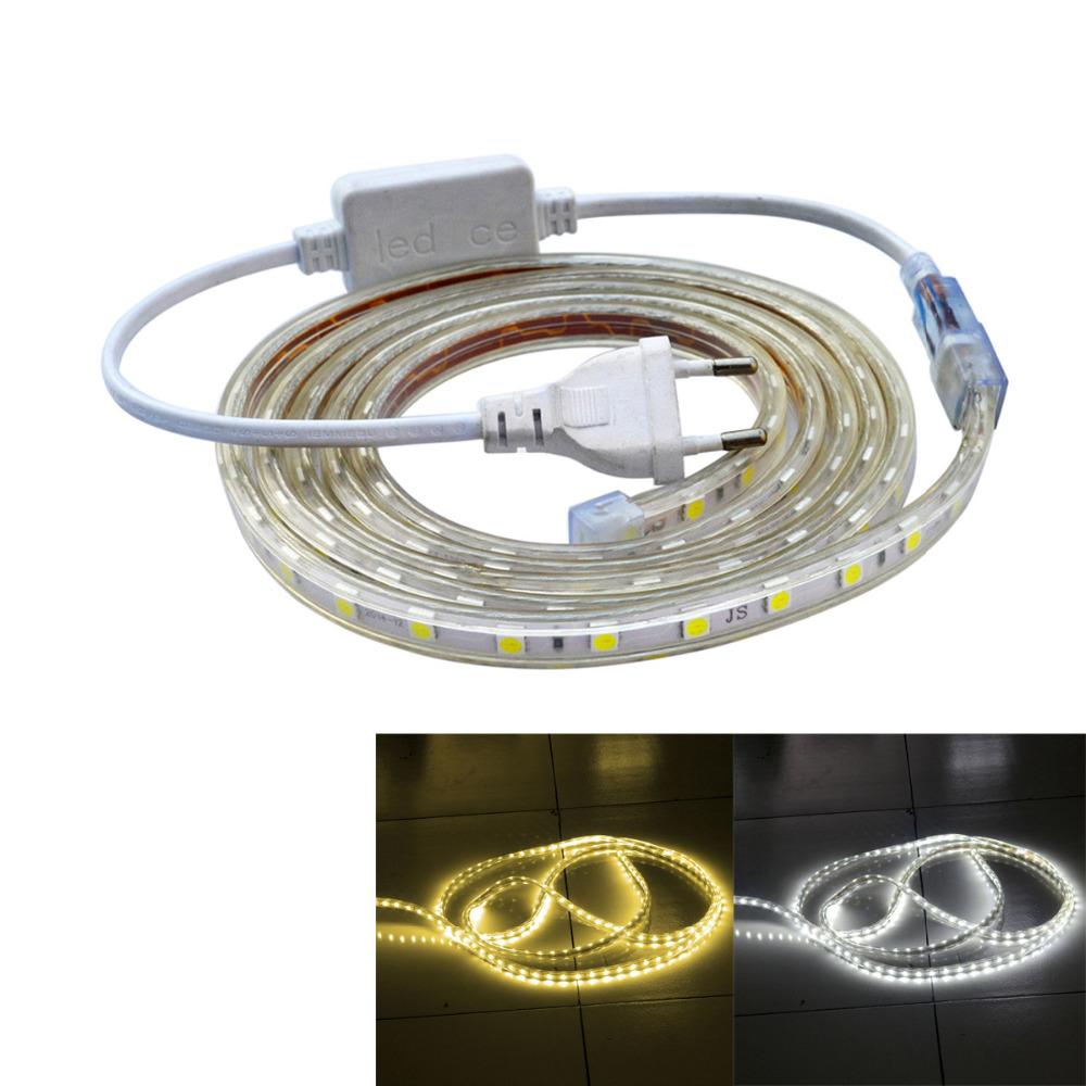 JWF Waterproof IP66 26W 1400lm 120-5050 SMD LED Flexible Light Strip (AC 220V / 2M)(China (Mainland))