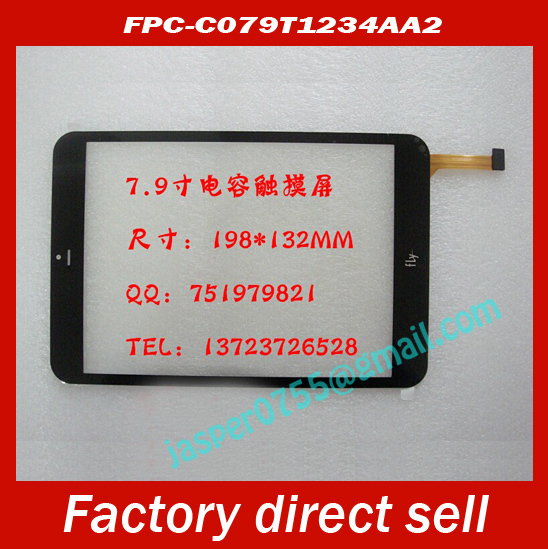 """3pcs/lot Original touch screen Digitizer 7.85"""" Fly connect Tablet FPC-C079T1234AA2 Touch panel Glass Sensor Replacement(China (Mainland))"""