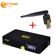 Freesat V8 Ангел DVB-S2/T2/C Amlogic S805 Android КОРОБКА TV Поддержка ТВ-Тюнер Жить Потокового Онлайн Спутниковое приемник + 1 ШТ. USB Wi-Fi(China (Mainland))