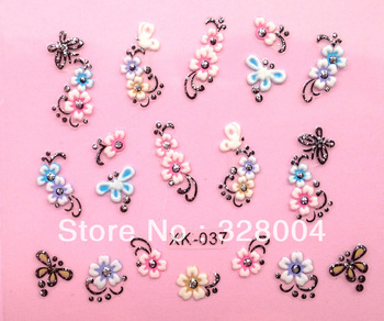 Free shipping XK Series Nail Art decals/ Flower  Design Nail stickers/ water transfer Nail art /XK for wholesale