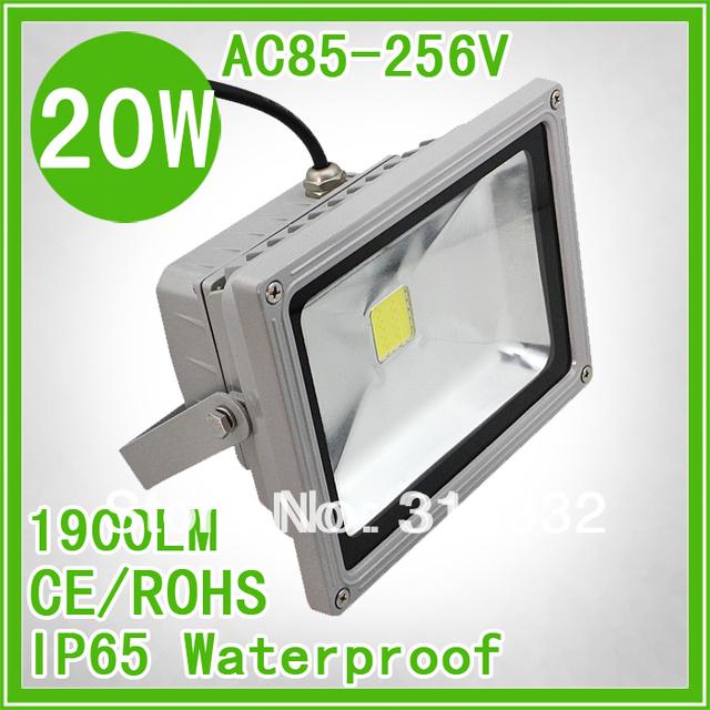 20W led flood light IP65 AC85-265v silver shell Cool white RGB floodlight two-year warranty+ free shipping