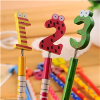 New Arrival Cute Korea Stationery School Office Supplies Cartoon Wooden Pencil Set Kids Gift Number Pencil 10 pcs/lot DIS0518(China (Mainland))