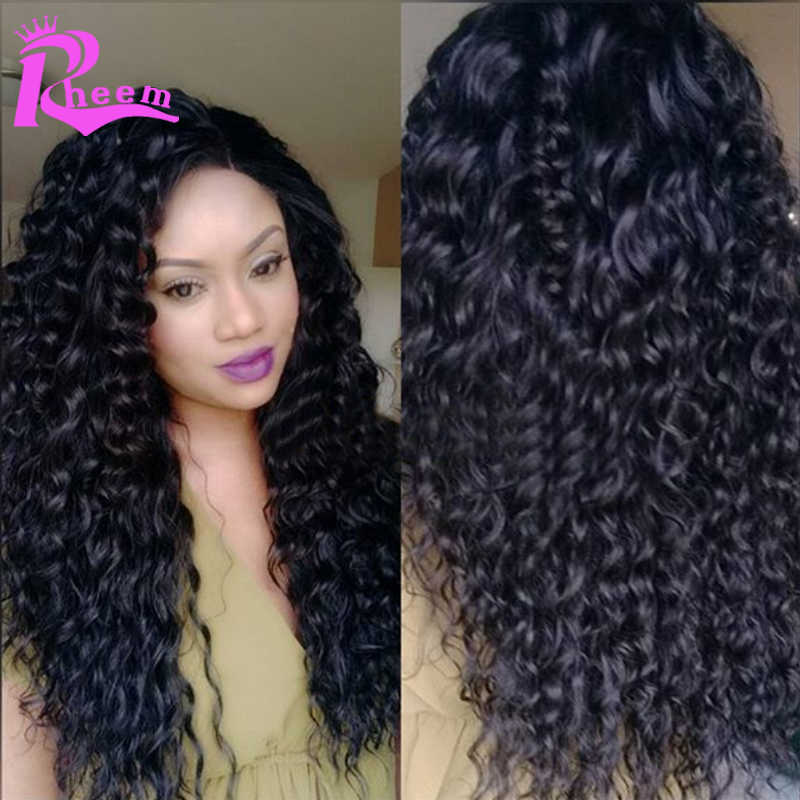 """Фотография 24"""" Deep Curly Lace Front Wig Brazilian Virgin Full Lace Human Hair Wigs For Black Women Glueless Human Hair Curly Wigs In Stock"""