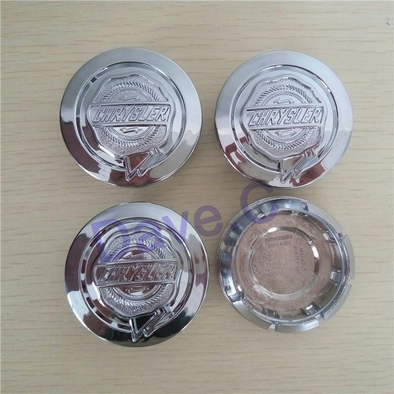 4pcs/set 53mm For Chrysler ABS Chrome Silver Car Wheel Hub Cover Center Centre Caps<br><br>Aliexpress