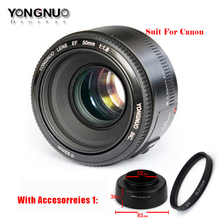 Buy YONGNUO YN50mm f1.8 YN EF 50mm f/1.8 AF Lens YN50 Aperture Auto Focus Suit Canon DSLR Cameras lens bag/cleaning pen /UV for $66.99 in AliExpress store