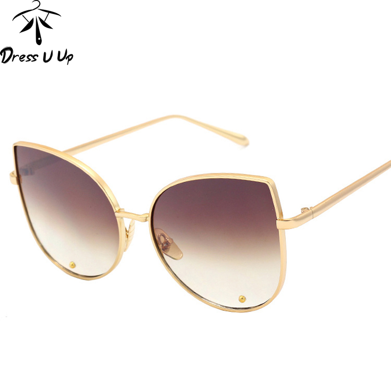 Vintage Big Frame Glasses : DRESSUUP 2016 Vintage Big Frame Cat Eye Sunglasses Women ...