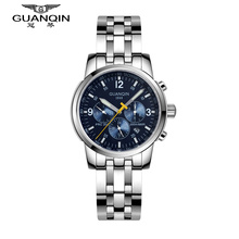 Original GUANQIN Top Brand Luxury Automatic Mechanical Watches Men Sapphire Mirror Waterproof Men Watches Relogios Masculino