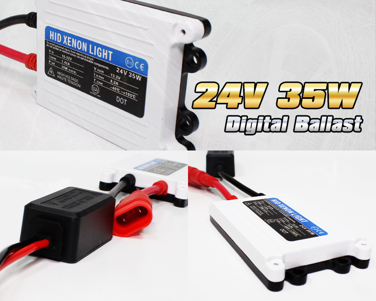 Free shipping 1pc 24V DC 35W HID slim digital xenon ballast hid ballast car ballast Replacement