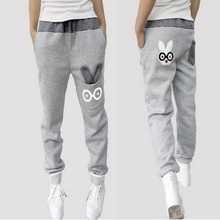 Women Pants 2015 Harem Pants Women Sport Pants Casual Sweatpants Loose Pant Cartoon Rabbit Trousers Women Joggers Spring Capris(China (Mainland))