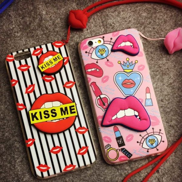 2015 Newest Fashion Tri -dimension Sexy Lips Case For Apple iPhone 6 4.7 6plus 5.5 inch Seductive Monroe Mouth Cover(China (Mainland))