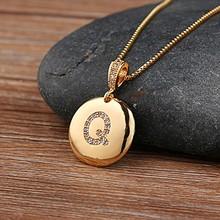 Moda 26 liter naszyjnik dla kobiety dziewczyny śliczny złoty kolor miedź cyrkon okrągły naszyjnik grzywny wesele biżuteria(China)
