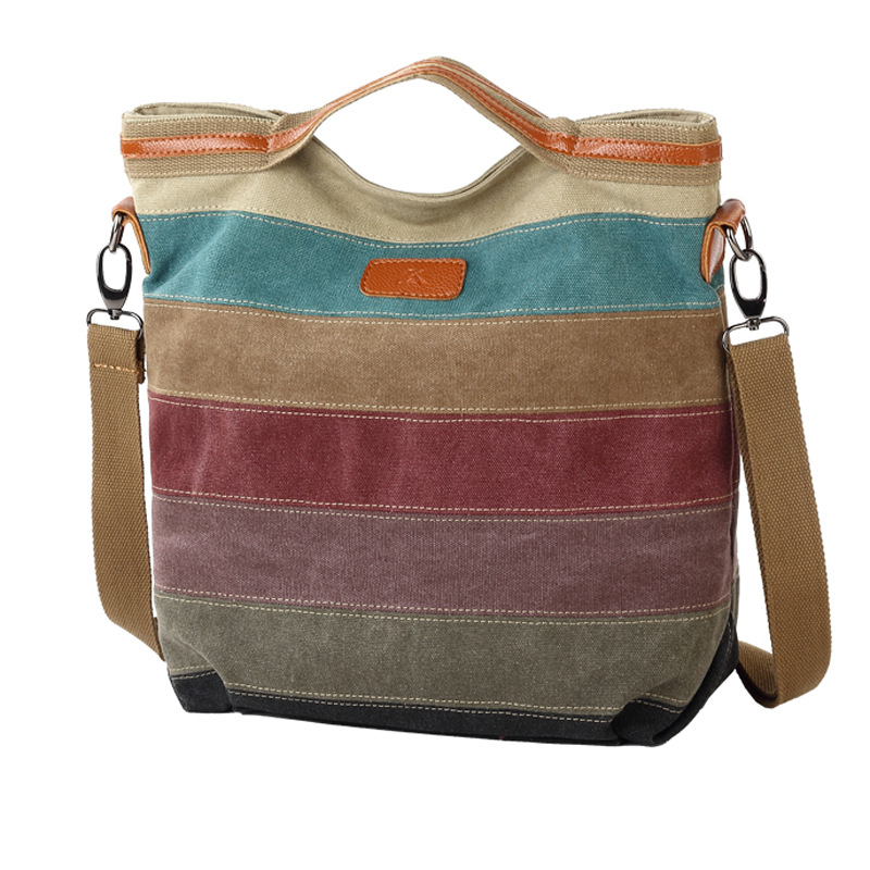 NEW! Patchwork Women Big Handbag Famous Brand Cotton Canvas Bags Shoulder Messenger Bag Cool Lady Women's Pouch Bolsas RU-1010(China (Mainland))