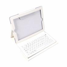 2 in 1 USB Bluetooth Keyboard + Folding Leather Protective Case Stand PU Leather Case Cover For iPad 2 3 4(China (Mainland))