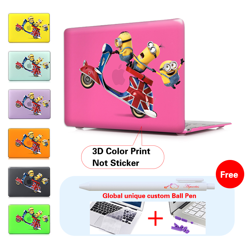 Funny Cartoon Animation Cover Case For Apple Macbook Air 11 13 Pro Retina 13 New 12 Inch Hard Shell cheapest laptop in china(China (Mainland))