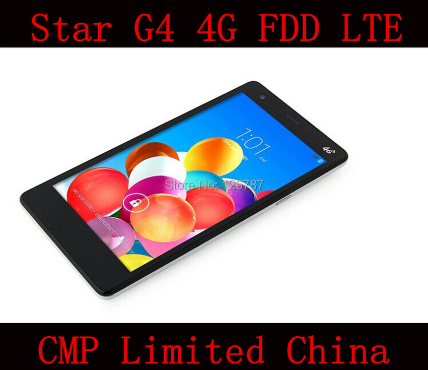 DHL Fast Delivery Original Star G4 4G FDD LTE 5.5 Inch MTK6582 Quad Core Android 4.4 IPS 960X540 1GB/8GB 5MP 4G Cell Phone(China (Mainland))